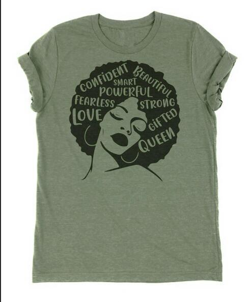 Powerful Afro Tee - Always Poppin Shop