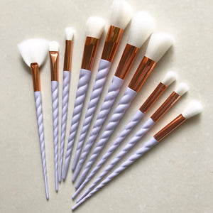 White Unicorn Makeup Brush Set