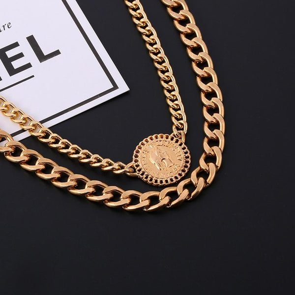 So Euro Chain Necklace Set - Always Poppin Shop