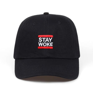 Stay Woke Dad Hat - Always Poppin Shop