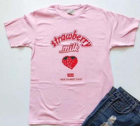 Strawberry Milk Tee - Always Poppin Shop