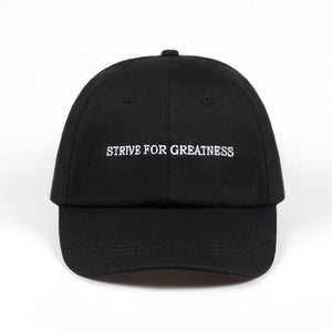 Strive For Greatness Dad Hat - Always Poppin Shop
