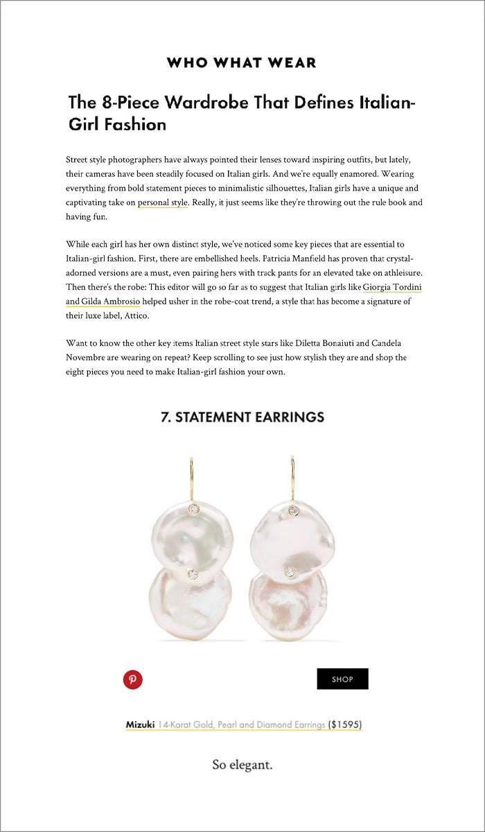 d2937fd31d13 ... Pearl Diamond Earrings with Earwire (SBE199) included on  WhoWhatWear.com in the story