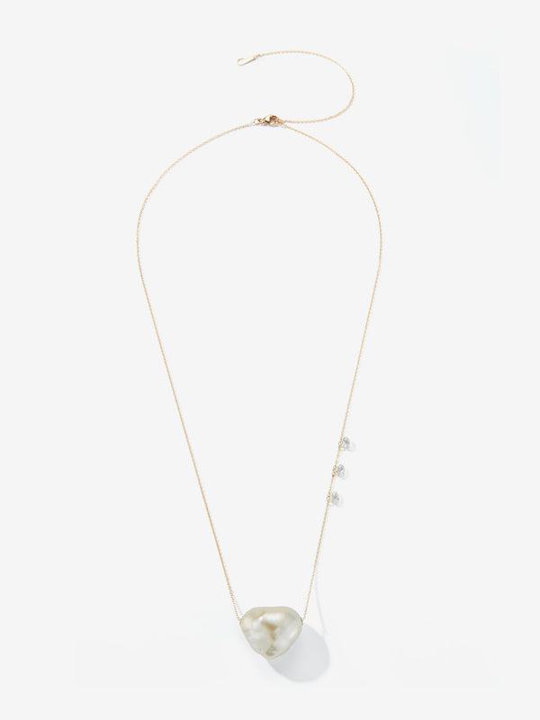 Prive Collection. Tapiz Diamond and Pearl Adjustable Necklace MP104