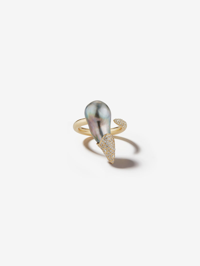 Prive Collection.  One Of A Kind.  Baroque Pearl and Diamond Ring  MP37