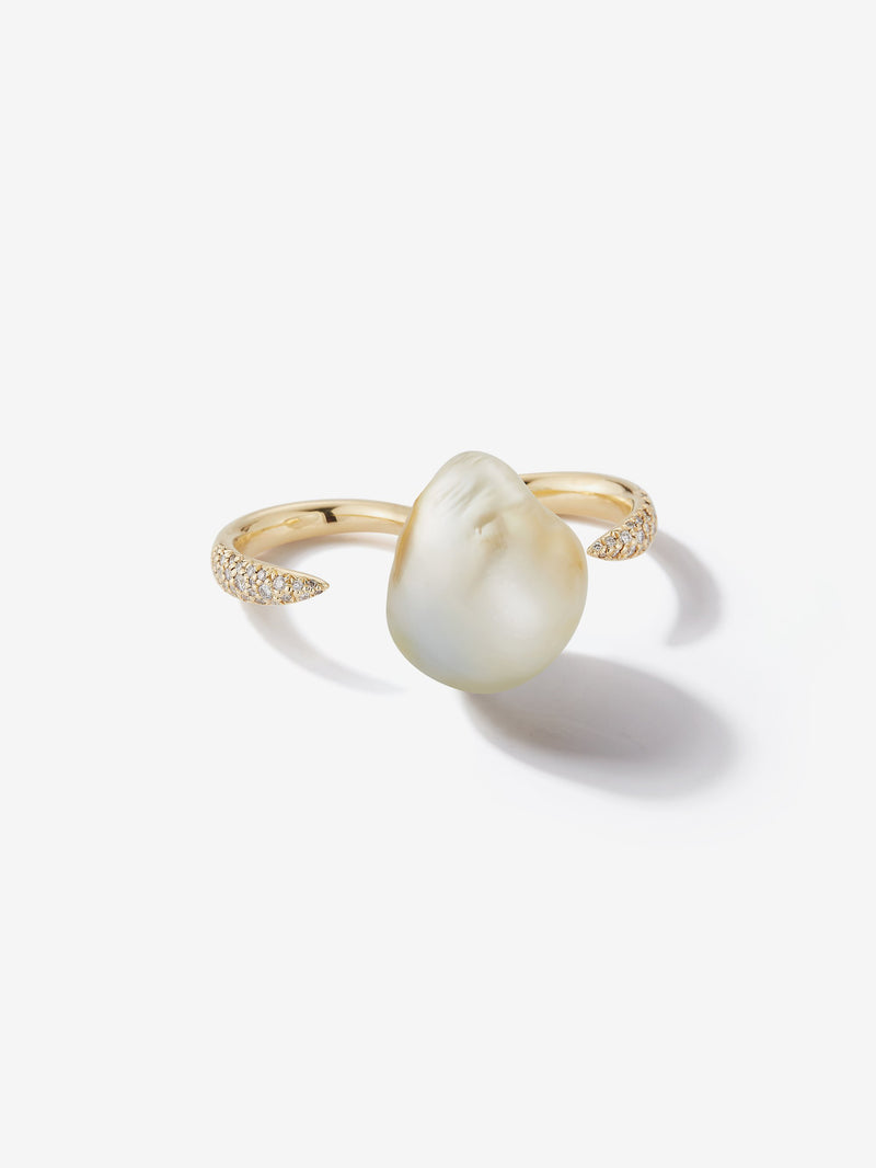 Prive Collection.  One Of A Kind.  Double Finger Pearl and Diamond Ring  MP4