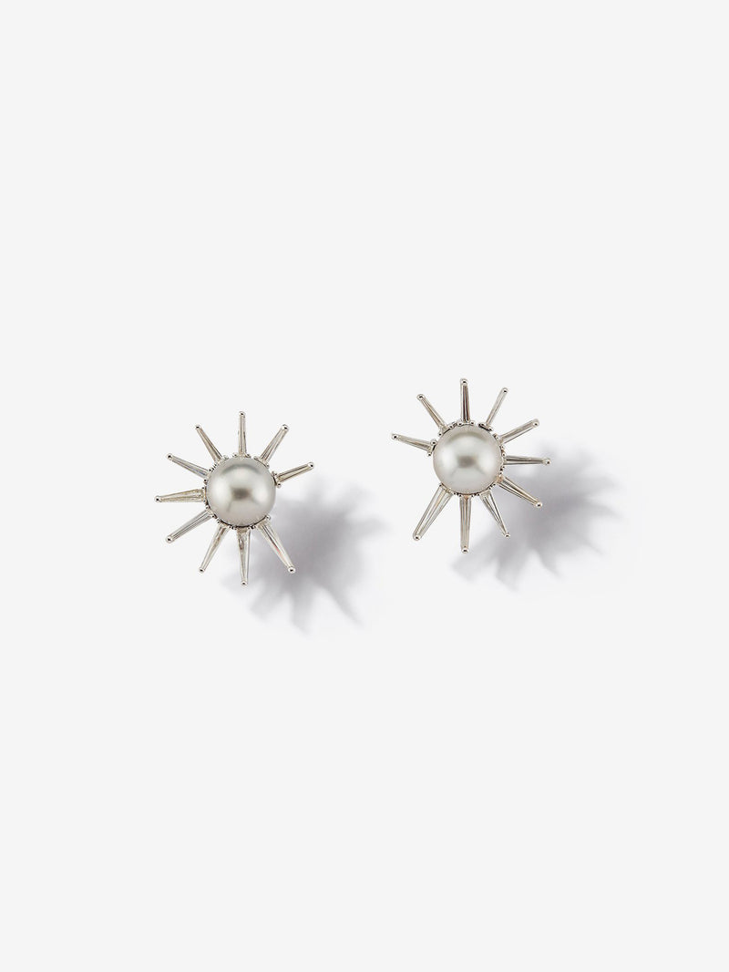 Prive Collection.  One Of A Kind.  Pearl and Diamond Earrings MP89