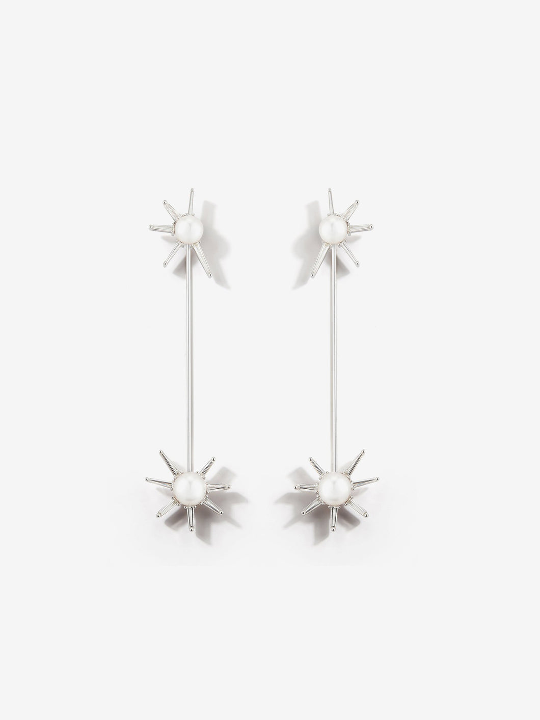 Prive Collection.  One Of A Kind.  Kanzashi Earrings.  Pearl and Diamond MP90