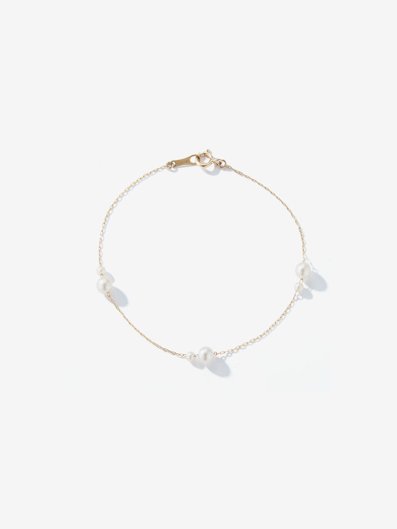 Double Floating Pearl Bracelet SBA103