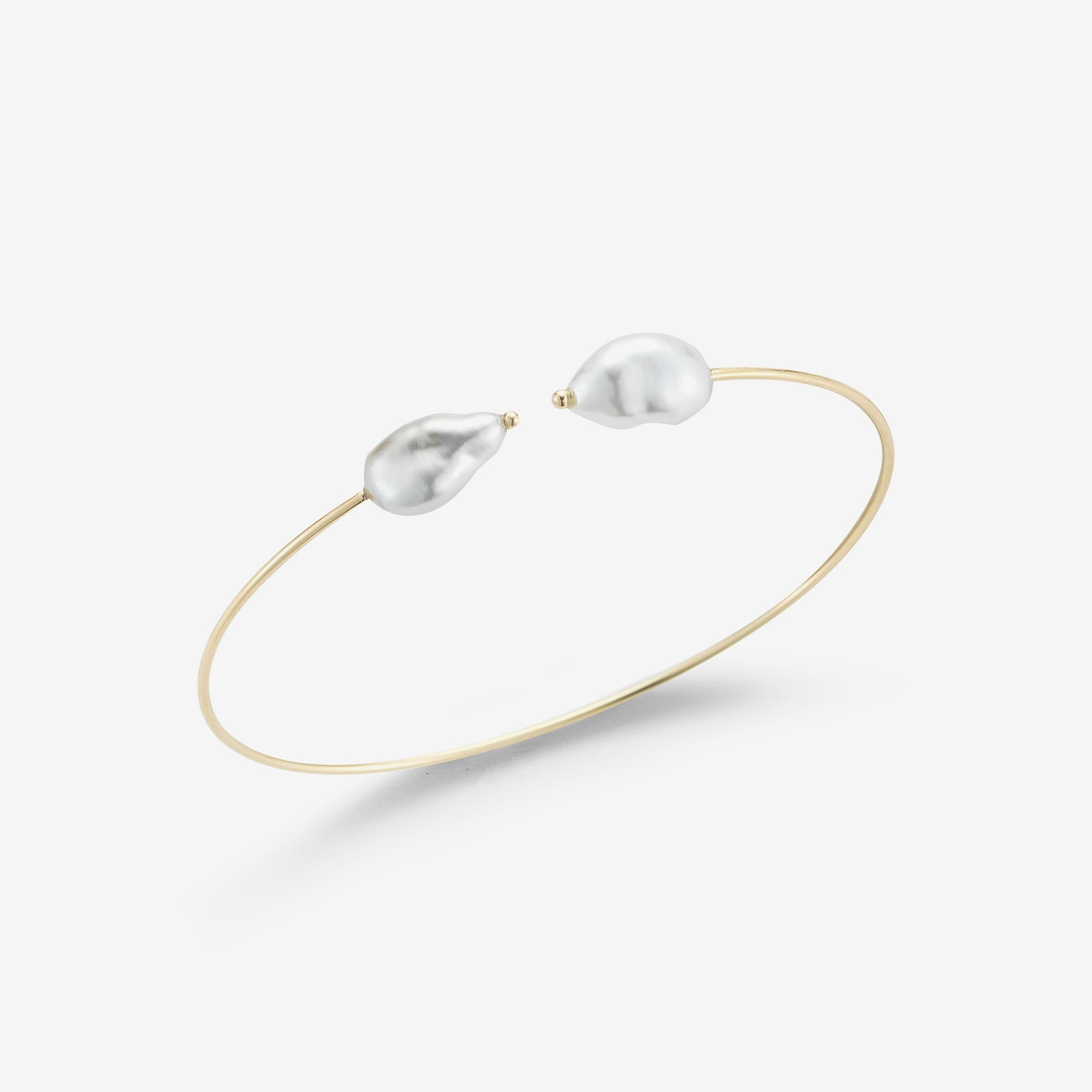 Sea of Beauty Collection.  Double Keshi Pearl Thin Cuff
