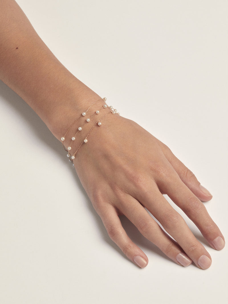 Sea of Beauty Collection.  Pearl Chain Bracelet  SBA69-6