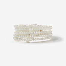 Sea of Beauty Collection.  Five Wrap Pearl Bracelet