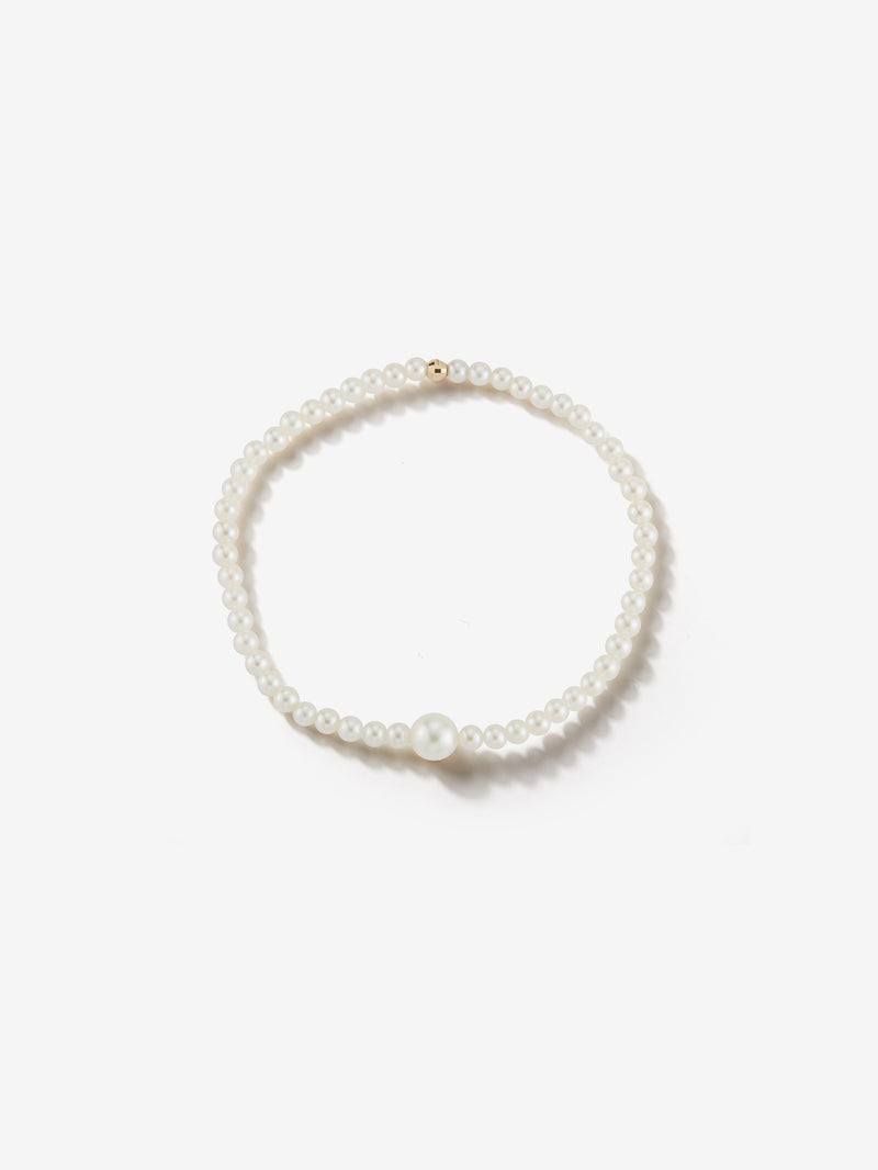 Sea of Beauty Collection.  Single Pearl Stretchy Bracelet  SBA75