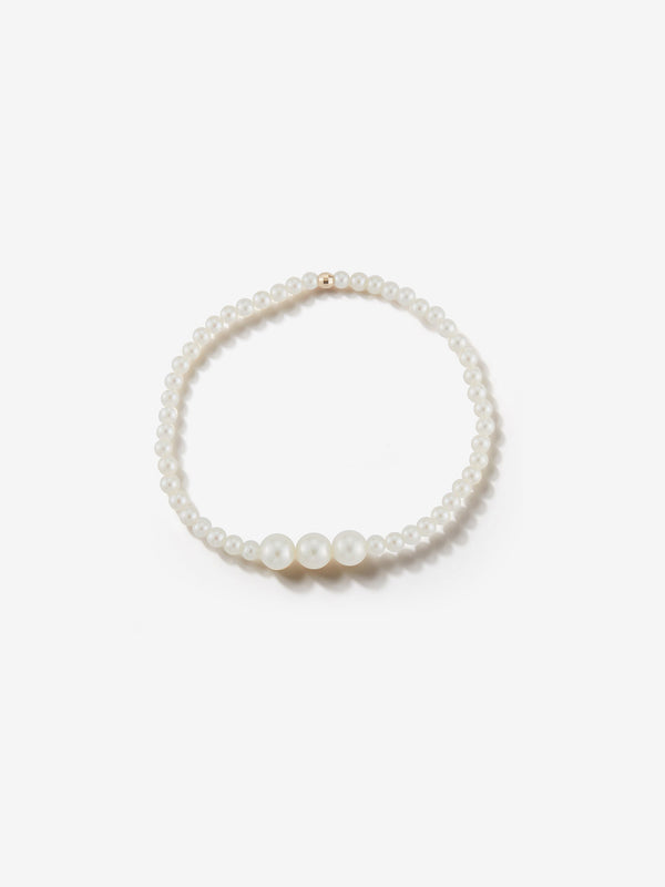 Sea of Beauty Collection.  Three Pearl  Stretchy Bracelet  SBA76