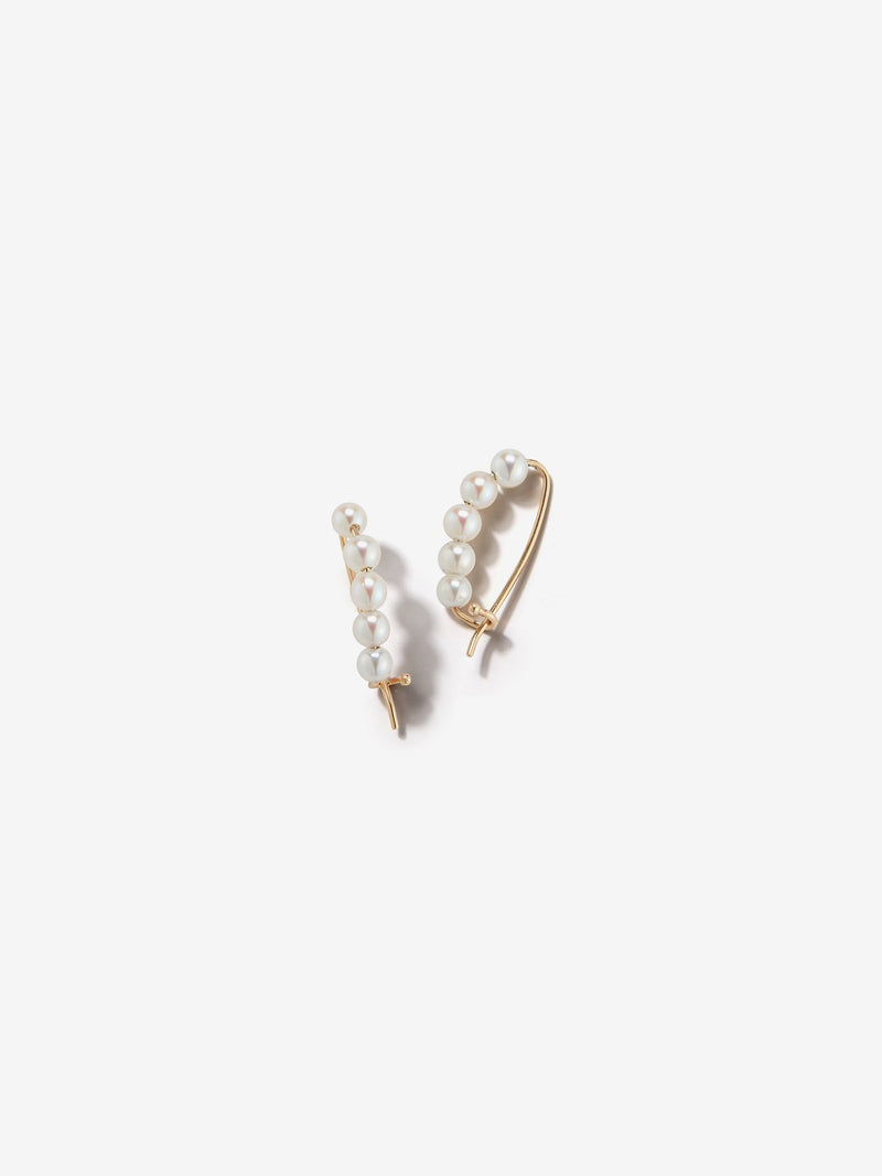 Sea of Beauty Collection.  Small Pearl Safety Pin Earrings  SBE205