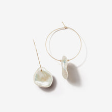 Sea of Beauty Collection.  Petal Pearl Hoop Earrings  SBE218