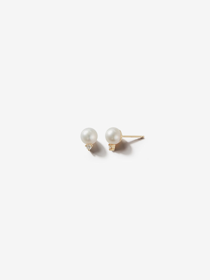 Sea of Beauty Collection.  Medium Pearl and Diamond Studs SBE243
