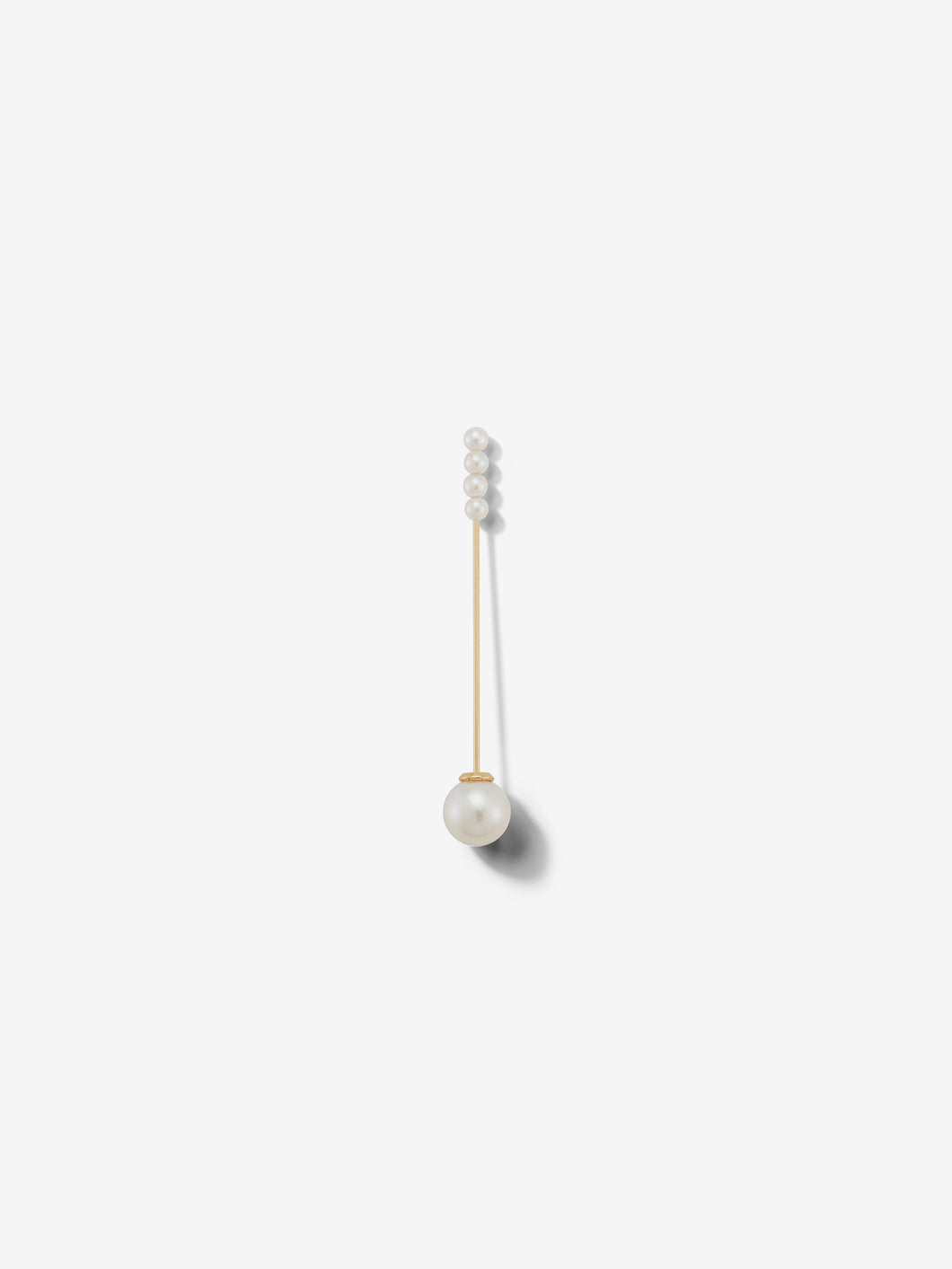 Sea of Beauty Collection.  Single Minimalist Kanzashi Pearl Earring SBE269-SINGLE