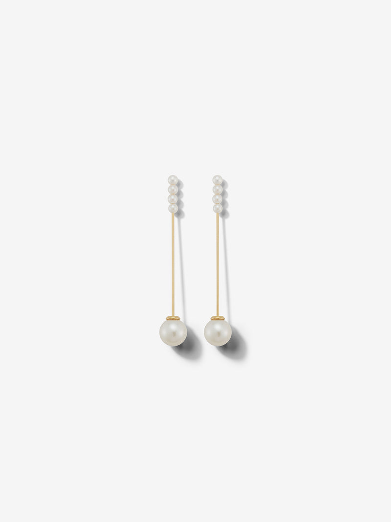 Sea of Beauty Collection.  Minimalist Kanzashi Pearl Earrings SBE269
