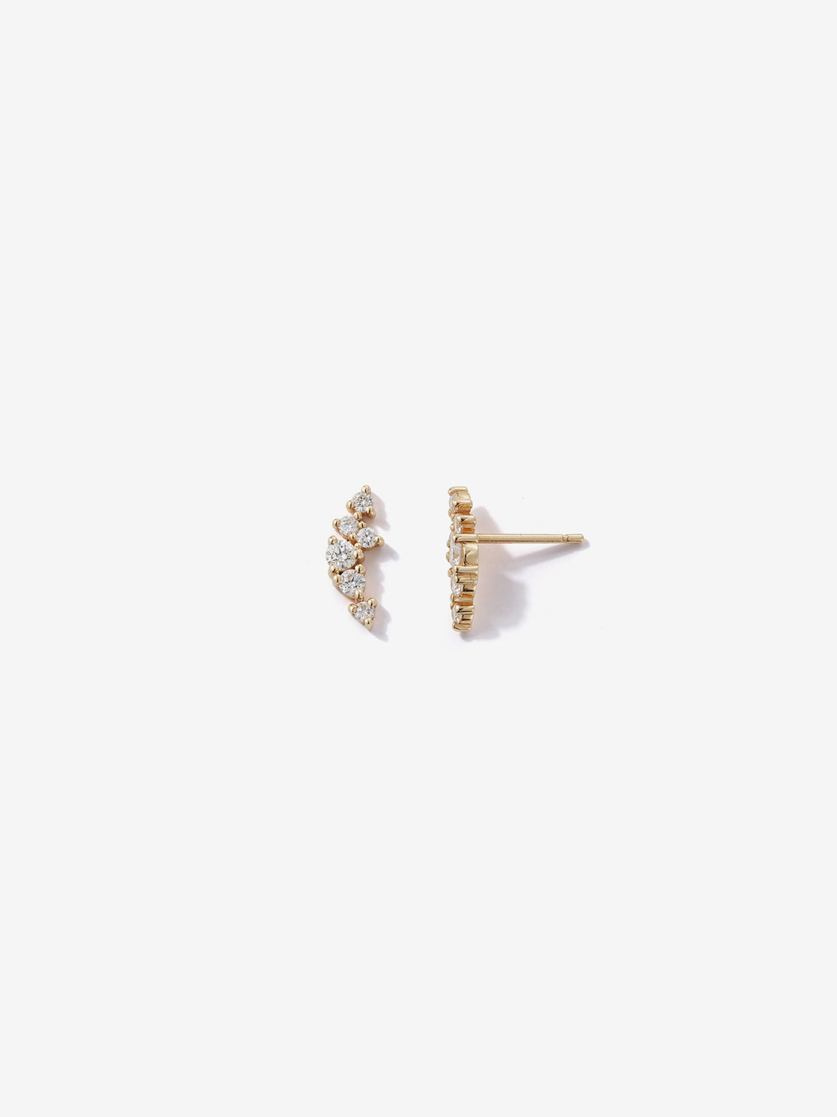 Sea of Beauty Collection. Small Diamond Cluster Studs SBE287