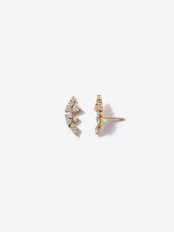 Sea of Beauty Collection. Large Diamond Cluster Studs SBE288