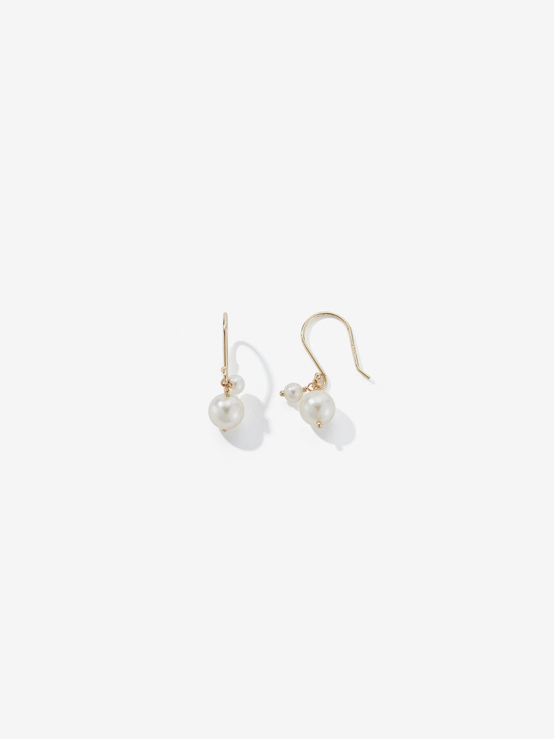 Double Drop Pearl Earrings SBE305