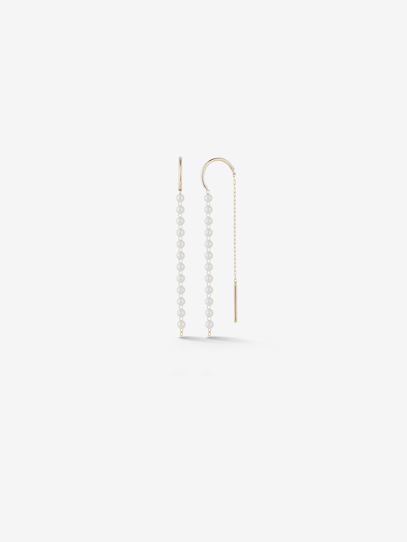 Medium Baby Pearl Threader Earrings SBE323