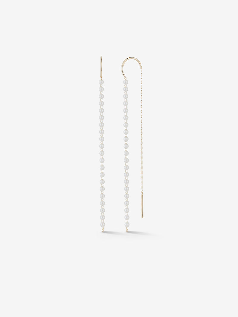 Long Baby Pearl Threader Earrings SBE324
