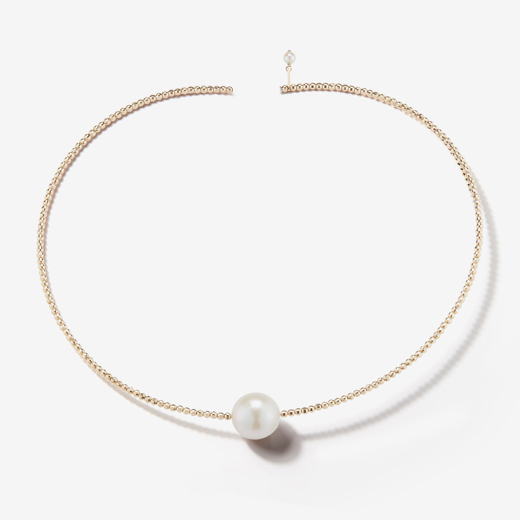 Sea of Beauty Collection.  Single Pearl Gold Collar  SBN163