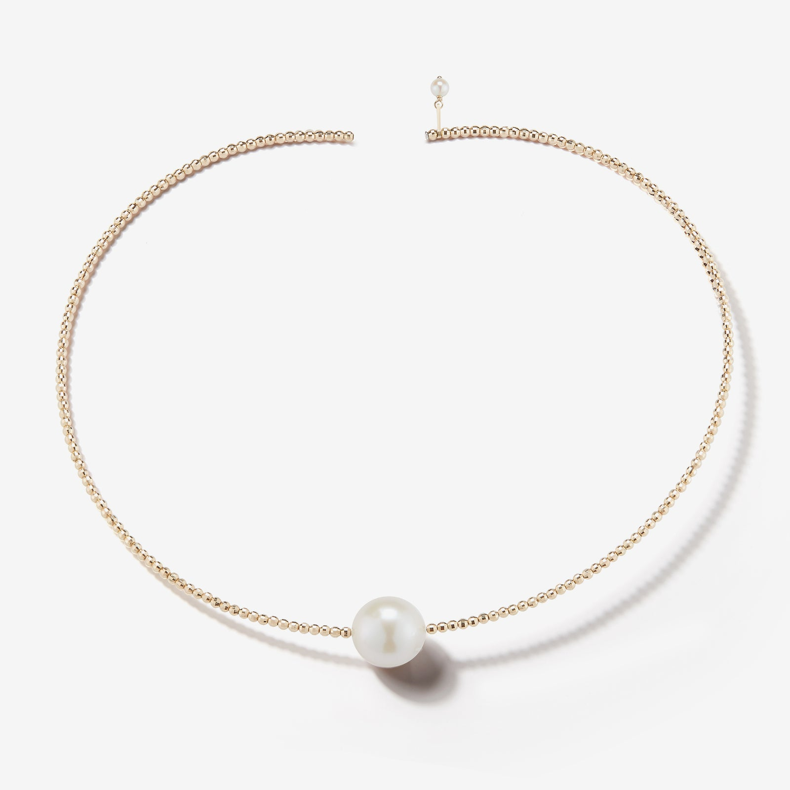 Sea of Beauty Collection.  Single Pearl Gold Collar