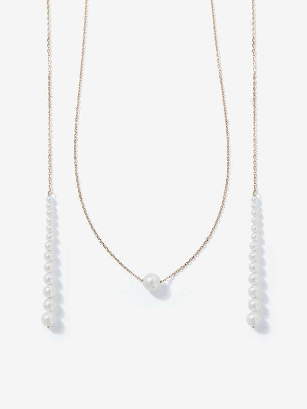 Sea of Beauty Collection. Graduated Pearl Lariat SBN212