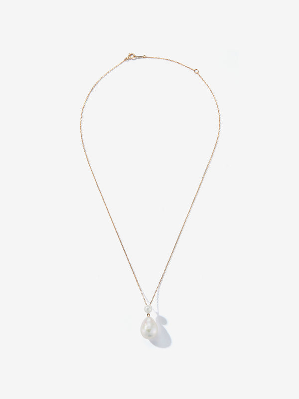 Double Pearl Drop Necklace SBN228