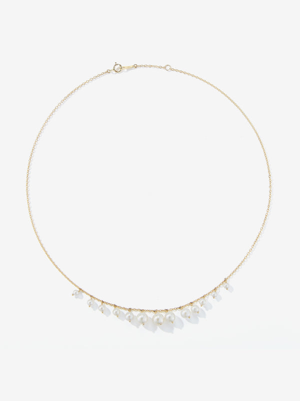 Graduated Pearl Fringe Necklace SBN233