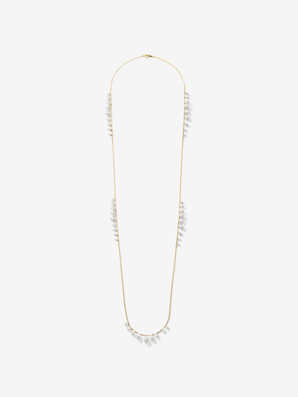 Long Graduated Pearl Fringe Necklace SBN235