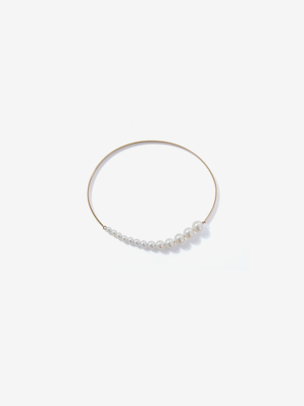 Sea of Beauty Collection. Graduated Pearl Wire Bracelet SBA96