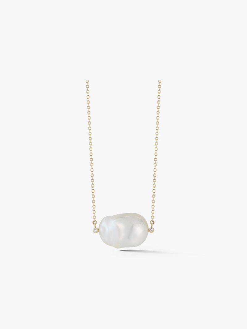 Baroque Pearl and Diamond Necklace SBN98W