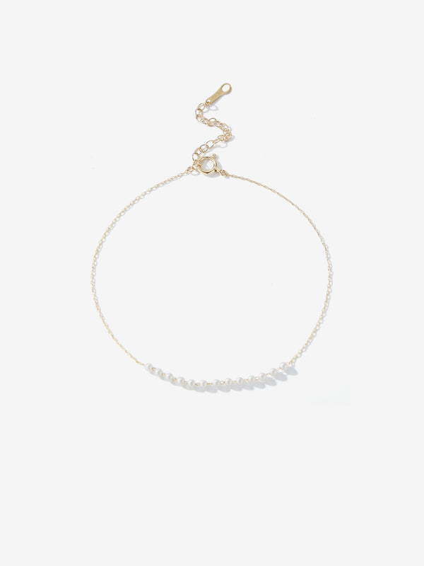 Centered Floating Baby Pearl Anklet SBX12