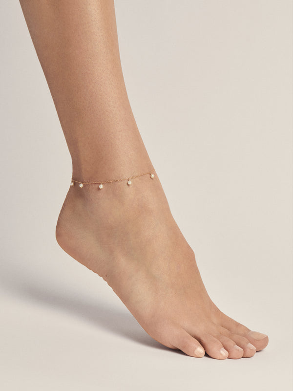 Sea of Beauty Collection.  Pearl Drop Anklet  SBX2