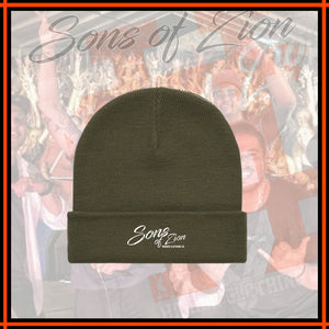 "SONS OF ZION x HIGHER ""Army Beanie"""