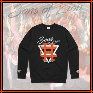 "SONS OF ZION x HIGHER ""Black Crewneck"""
