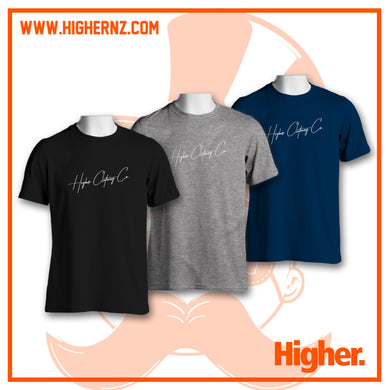Triple Tee Pack WHITE SIGNATURE (Black, Grey, Navy)