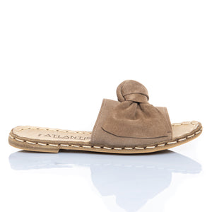 Coco Milk Bow - Turkish Sandals for Women & Men : Atlantis Handmade Shoes
