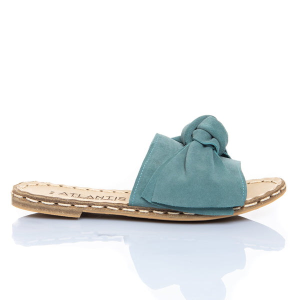 Green Bow - Turkish Sandals for Women & Men : Atlantis Handmade Shoes