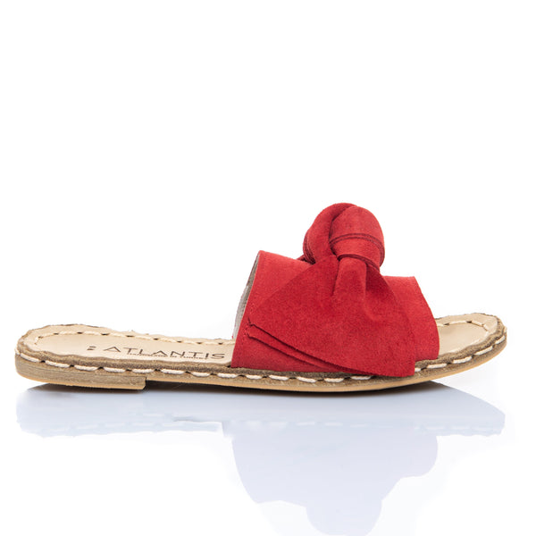 Red Bow - Turkish Sandals for Women & Men : Atlantis Handmade Shoes