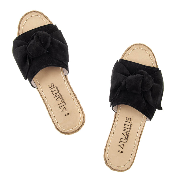Black Bow - Turkish Sandals for Women & Men : Atlantis Handmade Shoes