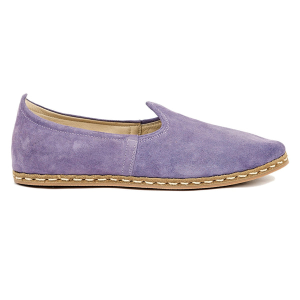 Lavender Suede - Turkish Slip-On Shoes for Women & Men : Atlantis Handmade Shoes