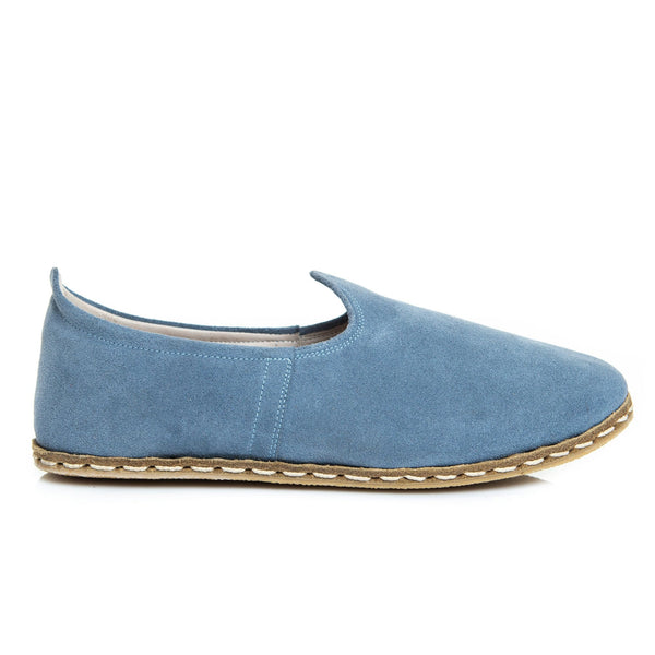 Sky Blue - Turkish Slip-On Shoes for Women & Men : Atlantis Handmade Shoes