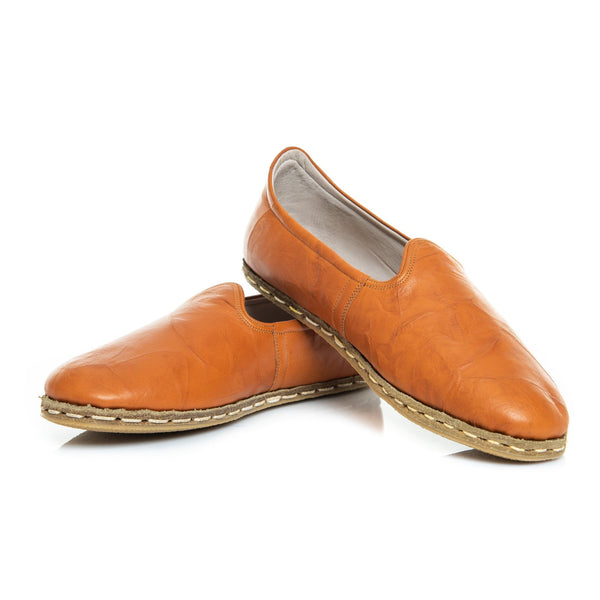 Camel - Turkish Slip-On Shoes for Women & Men : Atlantis Handmade Shoes