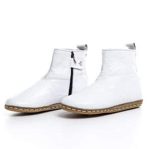 White - Turkish Boots for Women & Men : Atlantis Handmade Shoes