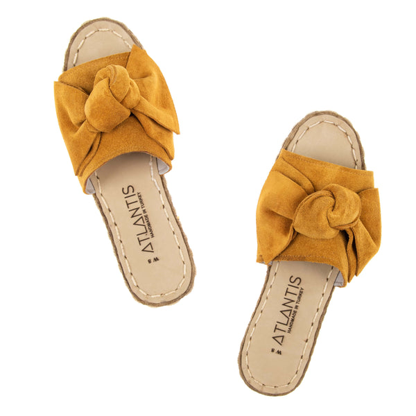 Yellow Bow - Turkish Sandals for Women & Men : Atlantis Handmade Shoes